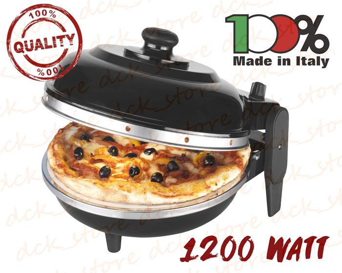 Forno pizza express napoli optima fatto in italia nero - Forno elettrico con pietra refrattaria ...