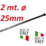 Palo Singolo Antenna 2 Metri Spessore 1 Mm Tv Wifi Diametro Ø 25 Made In Italy