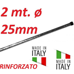 Palo Singolo Rinforzato Antenna 2 Metri Ø  25 Made In Italy Tv Wifi