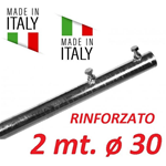 Palo Singolo Rinforzato Antenna 2 Metri Ø  30 Made In Italy Tv Wifi