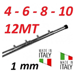 Palo Telescopico Antenna 4 6 8 10 12 Metri 1 Mm Zincato A Fuoco Made In Italy