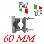 Staffa A Ringhiera Per Antenna Per Palo 30 60Mm Made In Italy Zincato