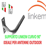 "Supporto Staffa Palo Balcone Ad ""L"" Mini Adatto Per Linkem E Antenne Outdoor Wifi"