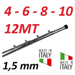 Palo Telescopico Pesante Antenna 4 6 8 10 12 Metri 1,5 Mm Zincato A Fuoco Made In Italy