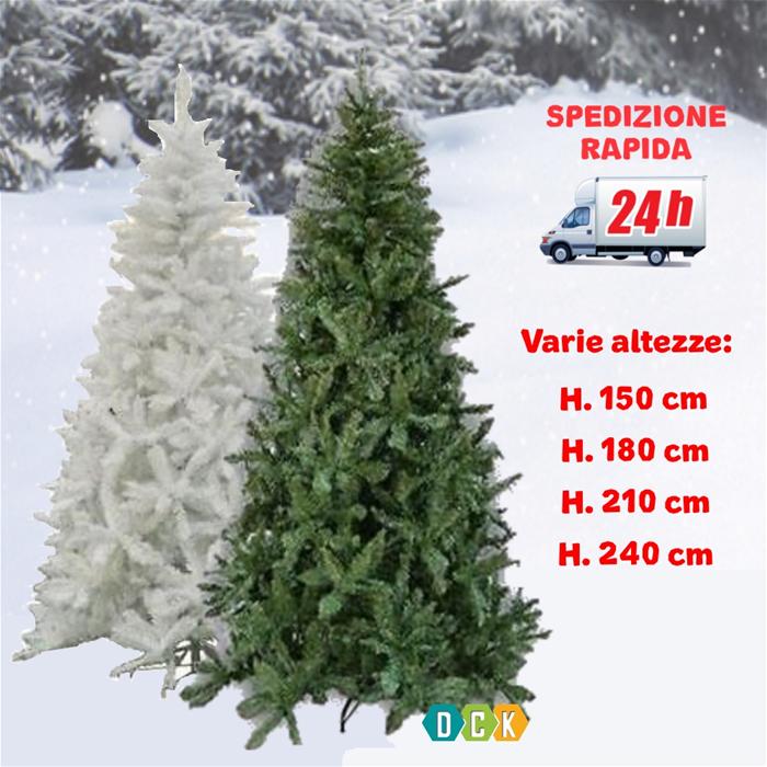 Albero Di Natale 150 Cm.Dettagli Su Albero Di Natale 150 180 210 240 Cm Standard Realistico Verde Bianco Innevato